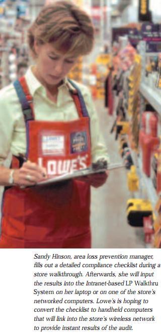 Lowe's Intranet-Based LP Audit - Loss Prevention Media