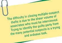 Solving Multiple-Suspect Thefts