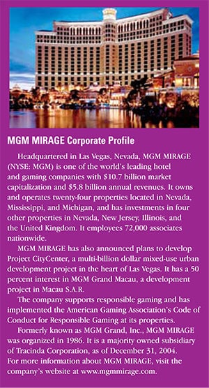 MGM MIRAGE: Roll the Dice, Bad Guys Lose