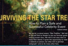 Surviving the Star Trek—How to Plan a Safe and Successful Celebrity Event