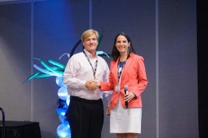 The LPF also donated an LPC coursework scholarship to Chuck Taylor of Office Depot/Office Max (shown at left).