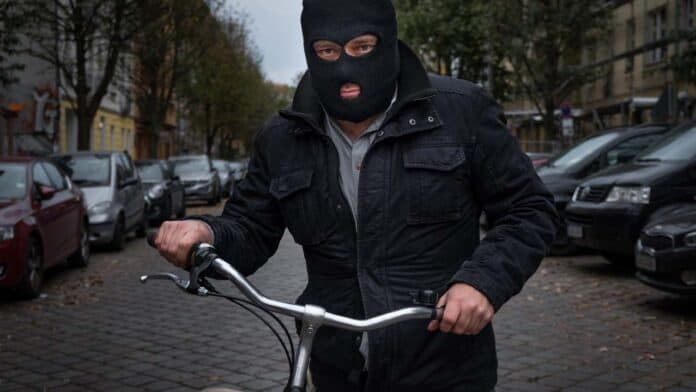 burglar bicycle ski mask