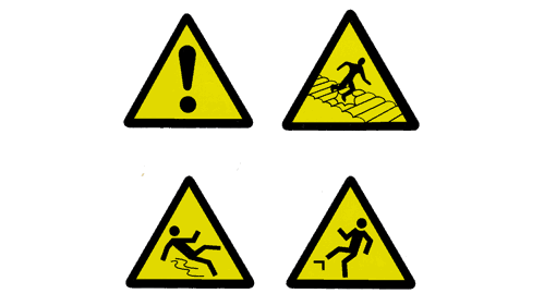 retail store safety checklist, hazard signs