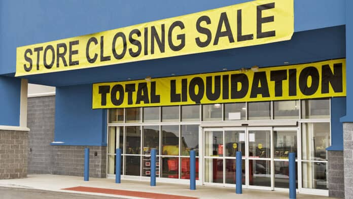 retail store closing