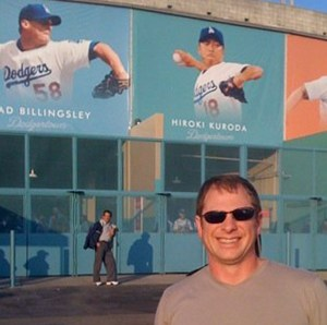 Bob Serenson at Dodger Stadium