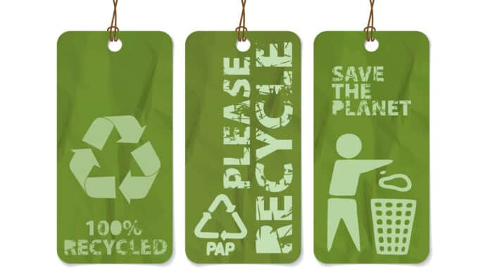 retail recycling tags